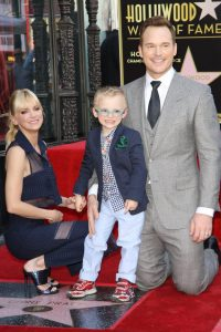 Anna Faris with family