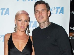Pink with her husband