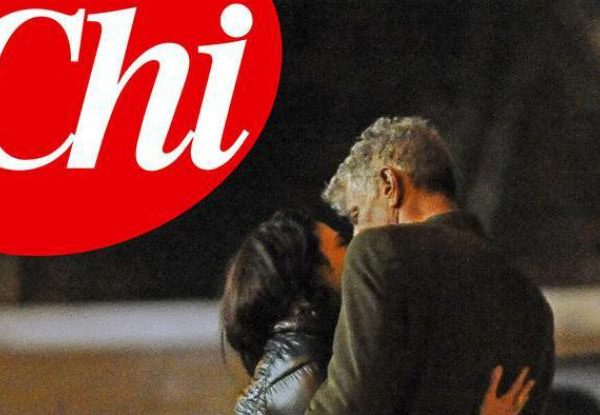 Bourdain argento and his Italian Girlfriend kissing each other