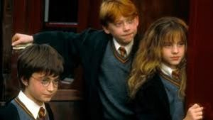 Rupert Grint,Emma Stone And Daniel Radcliffe in Harry Potter