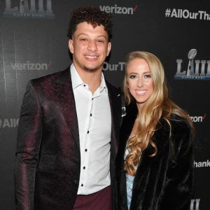 Patrick Mahomes and his Girlfriend Brittany
