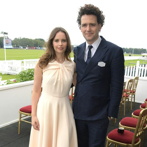 Felicity Jones and her husband Charles Guard