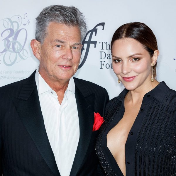 Katharine McPhee and David Foster