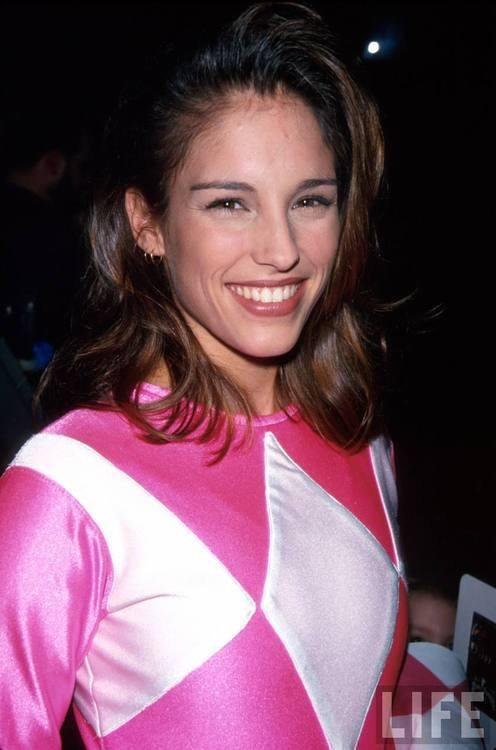 Amy Jo Johnson as The Pink Ranger